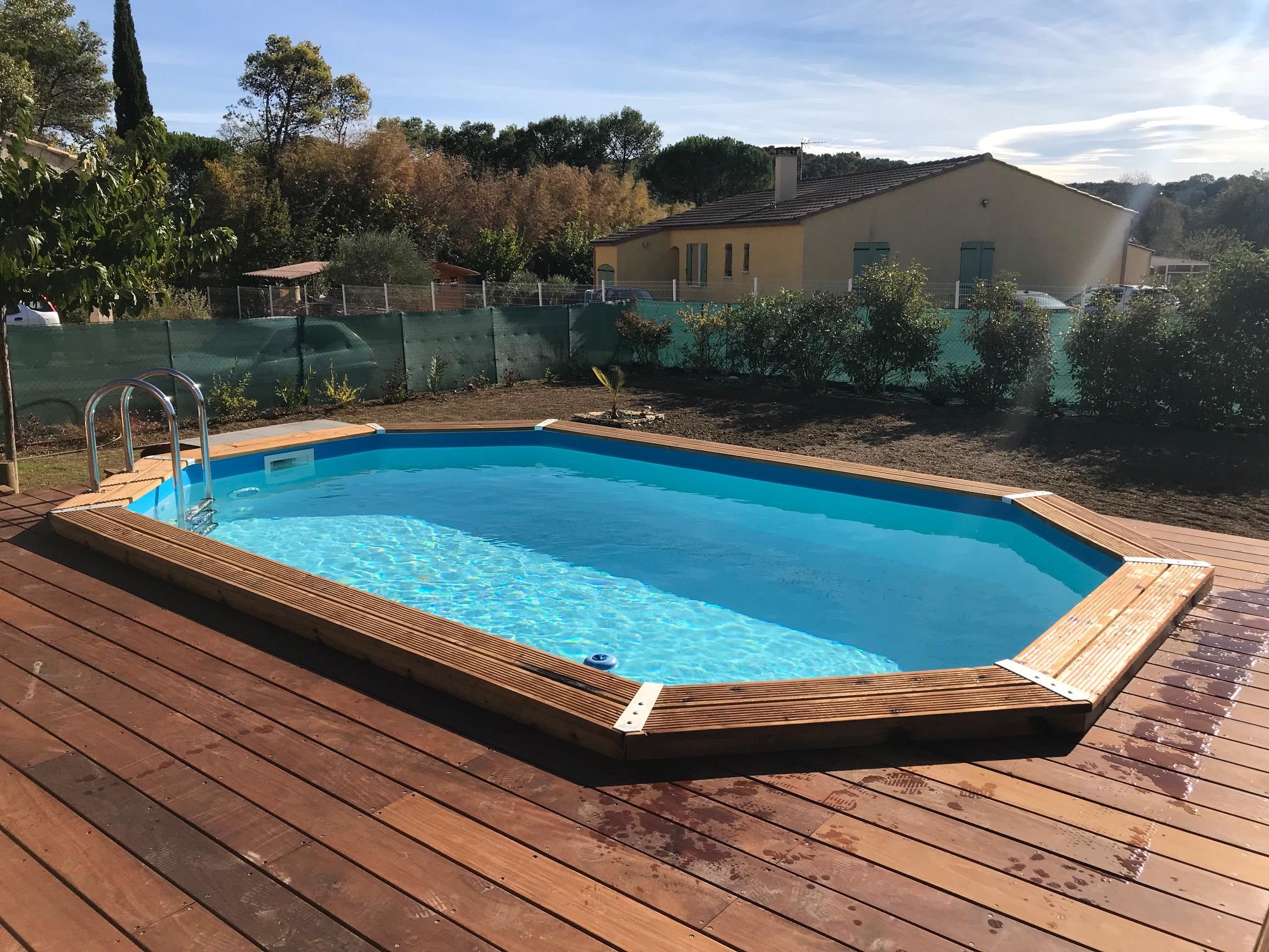 Piscine Tubulaire Terrasse Bois ubbink piscine en bois *promo robot nettoyeur offert et
