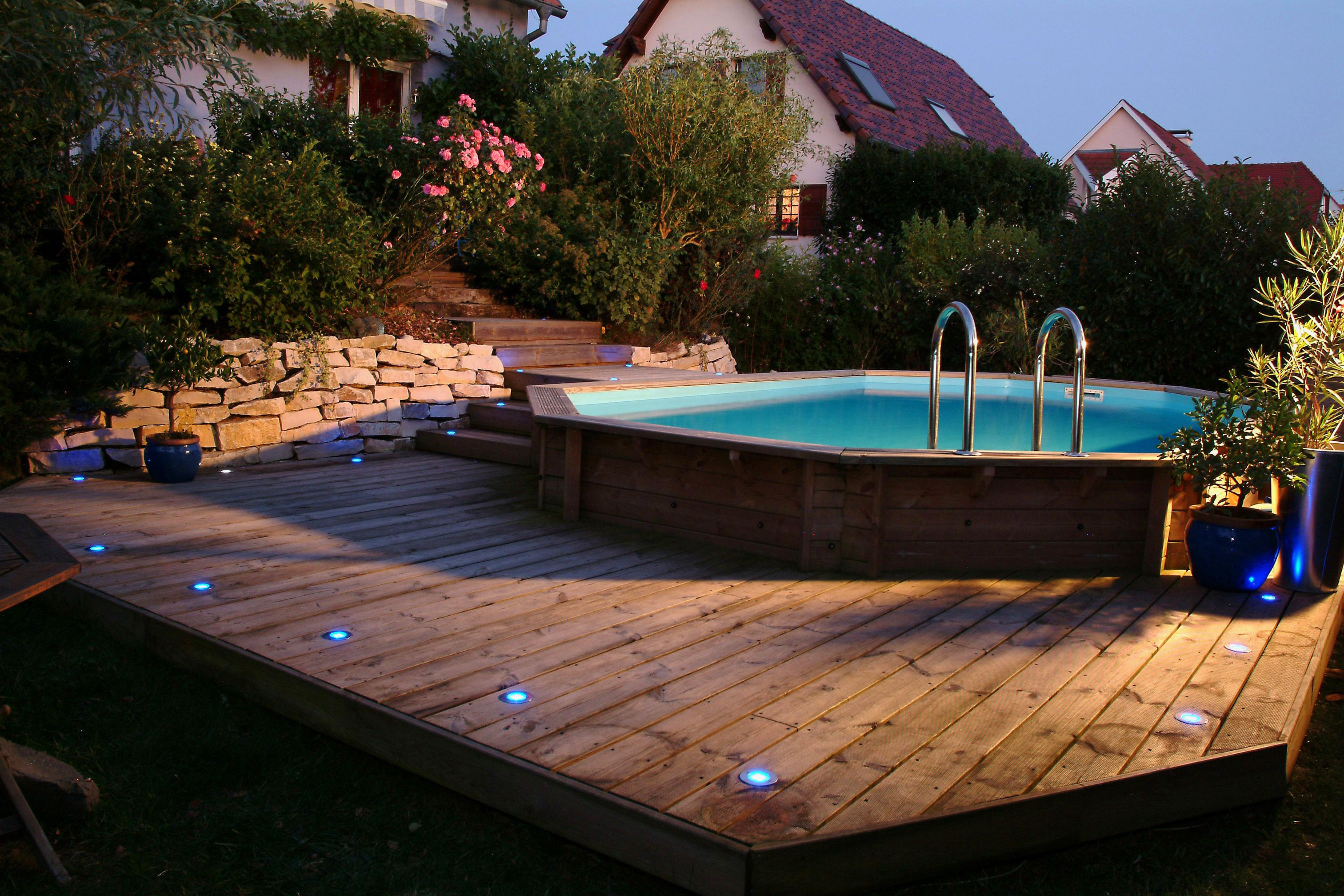 Piscine En Palette De Bois ubbink piscine en bois maldives 490 x 300 x 120 cm - liner