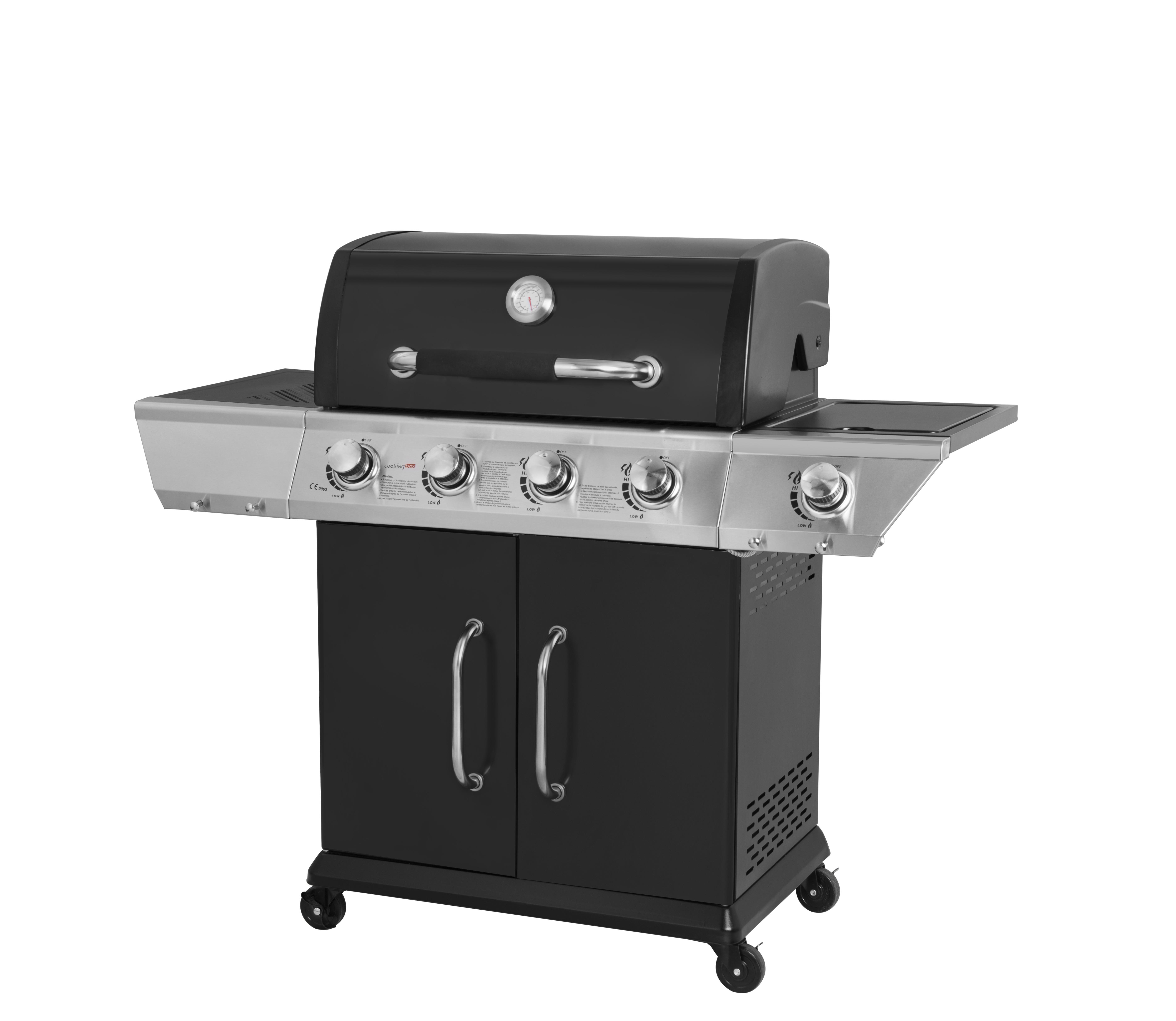 Préparer Un Barbecue Pour 20 Personnes cooking box barbecue à gaz duke - 4 feux + side - achat