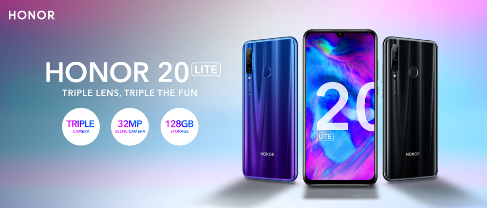 HONOR 20 Lite Phantom Blue 128 Go