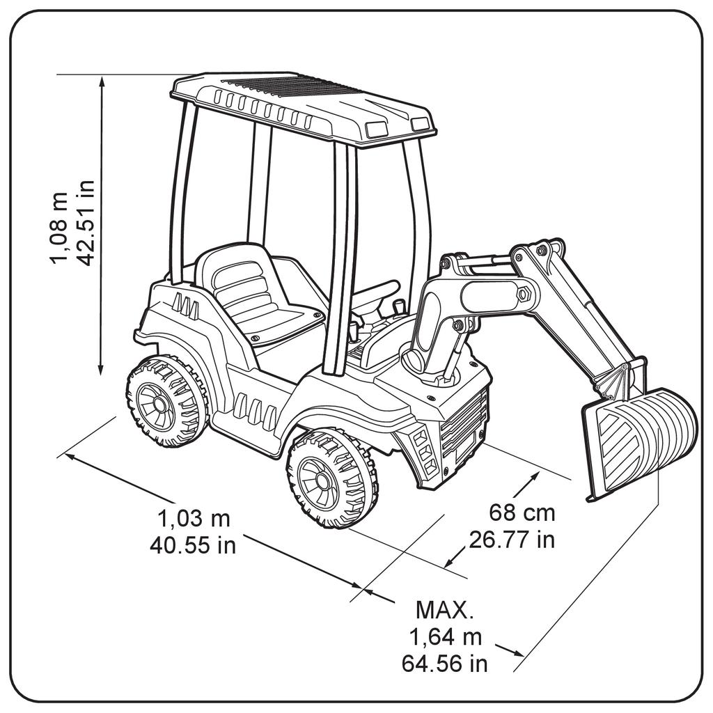 Pelleteuse Enfant Super Digger 12v Jaune Feber Avec Pelle Achat Vente Tracteur Chantier Cdiscount