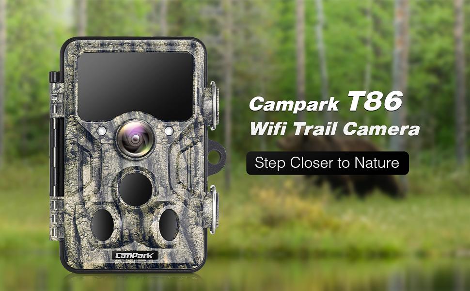 Campark Cam/éra de Chasse 20MP 1296P WiFi Bluetooth Cam/éra de Faune avec 940nm IR LED Vision Nocturne avec IP66 /Étanche pour la Surveillance des Animaux de la Faune en Plein Air